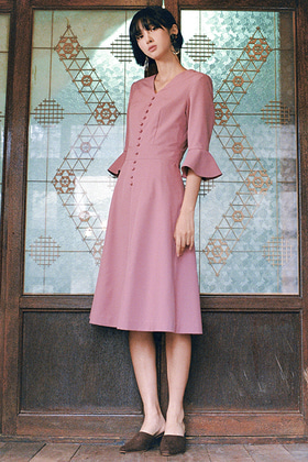 flare dress (pink)